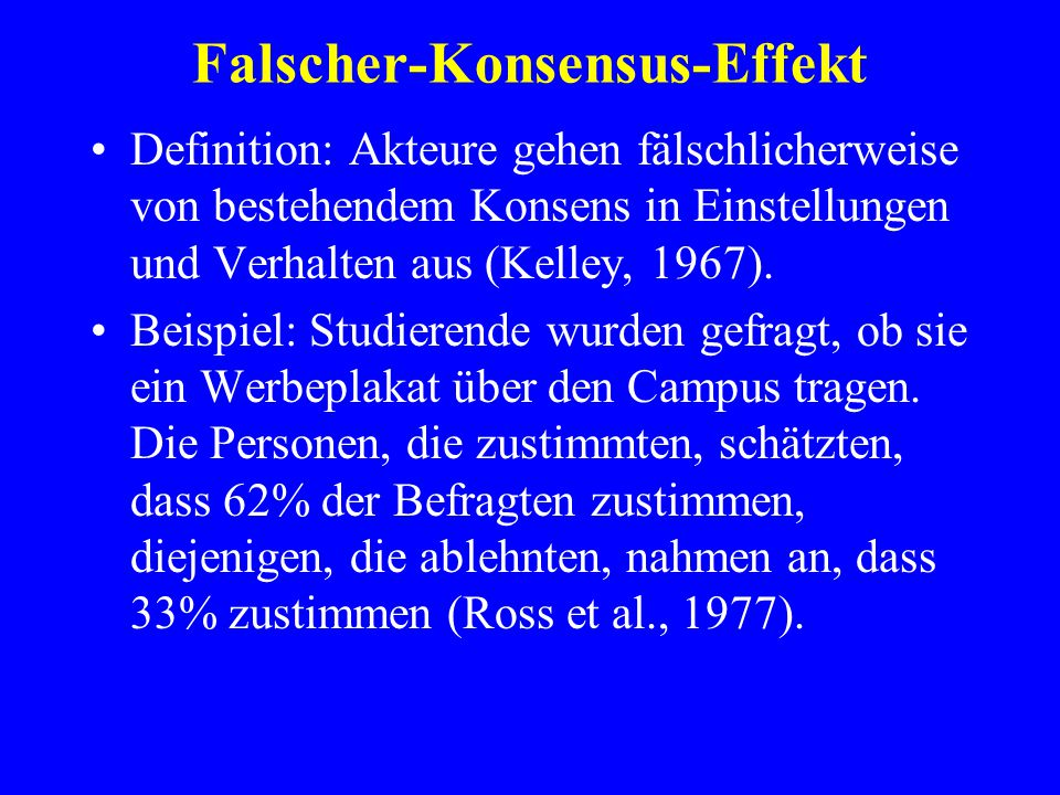 Falscher-Konsensus-Effekt