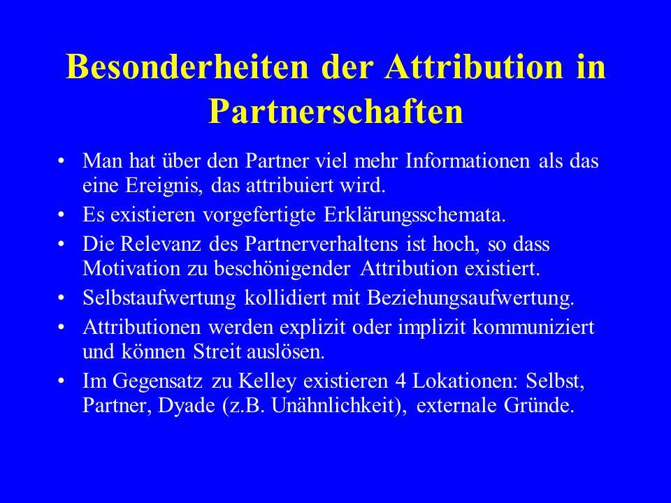 Besonderheiten der Attribution in Partnerschaften