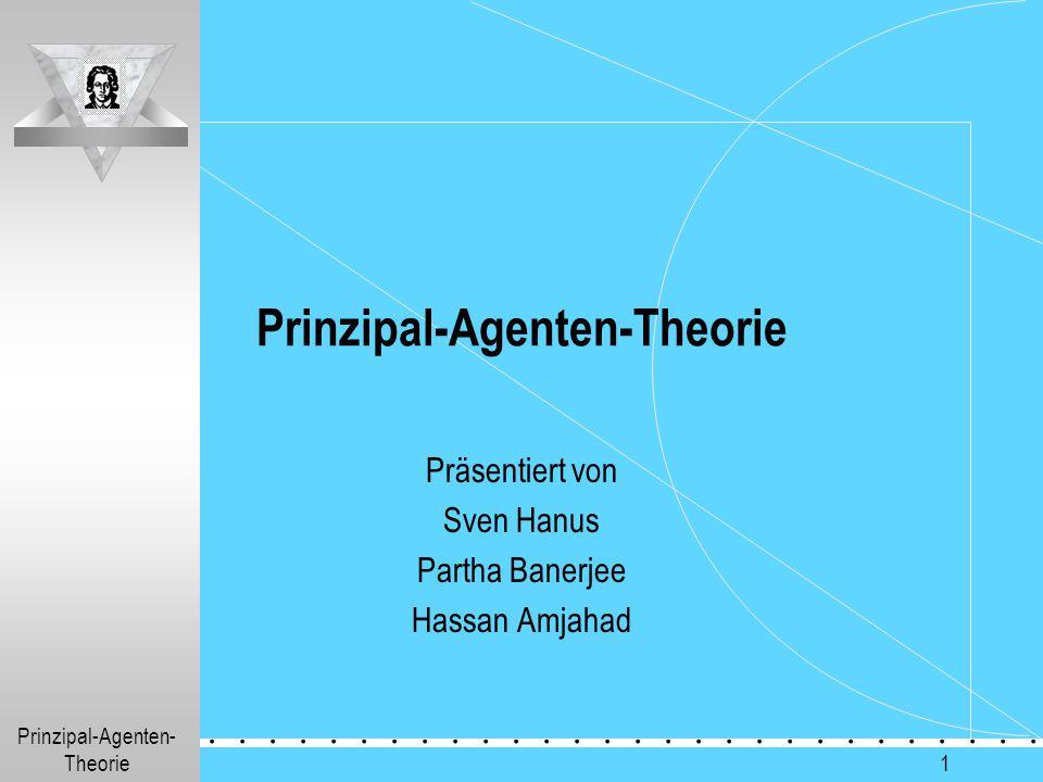 Prinzipal-Agenten-Theorie