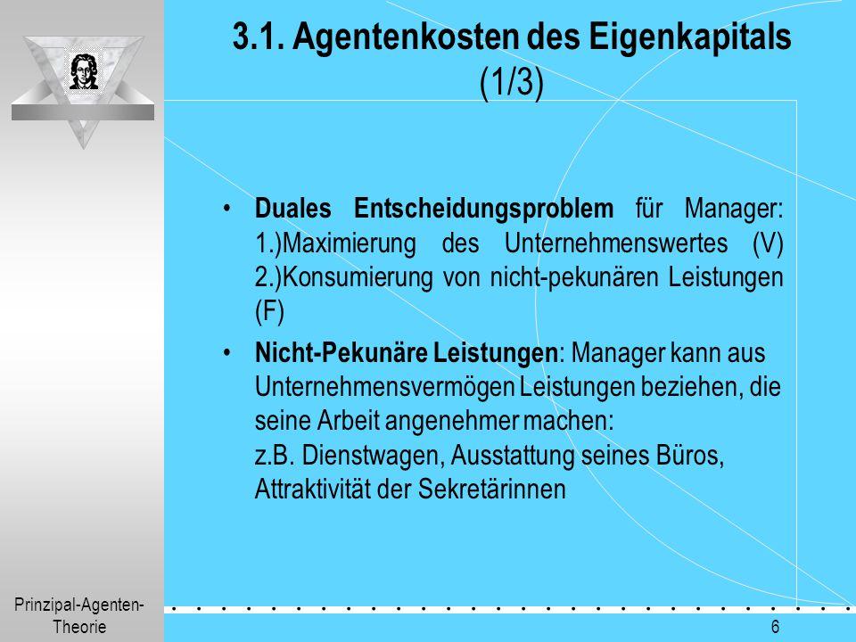 3.1. Agentenkosten des Eigenkapitals (1/3)