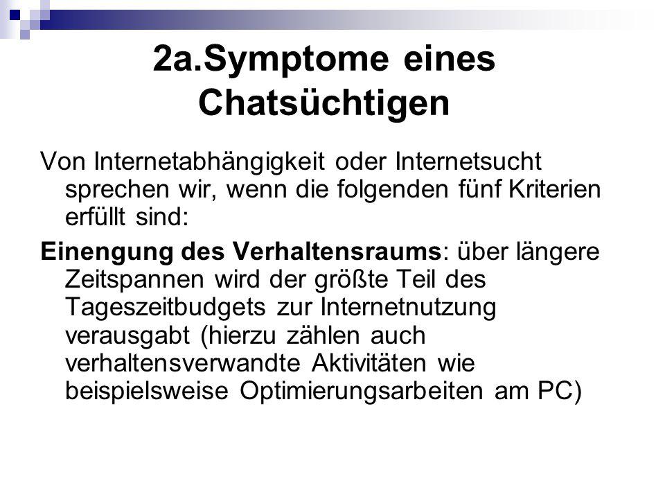 2a.Symptome eines Chatsüchtigen
