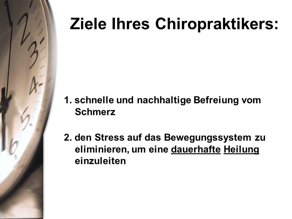 Ziele Ihres Chiropraktikers:
