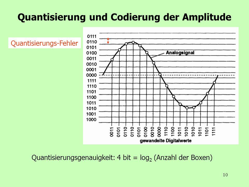 Quantisierung und Codierung der Amplitude