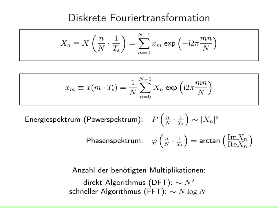 Diskrete Fourier--Transformation