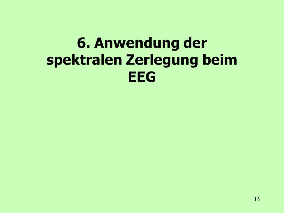 6. Anwendung der spektralen Zerlegung beim EEG
