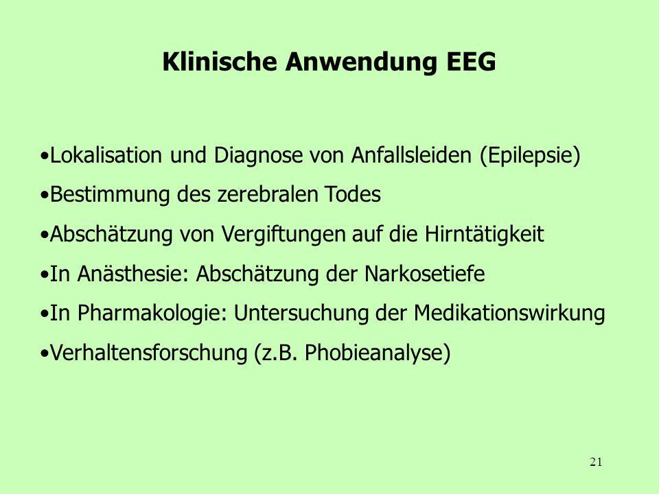 Klinische Anwendung EEG