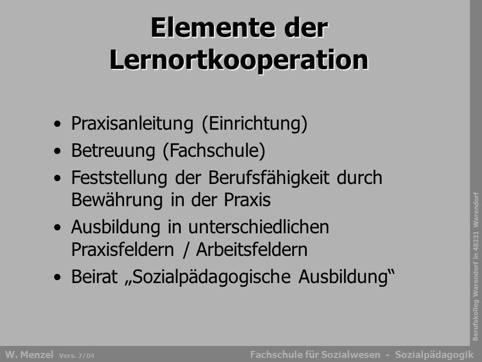 Elemente der Lernortkooperation