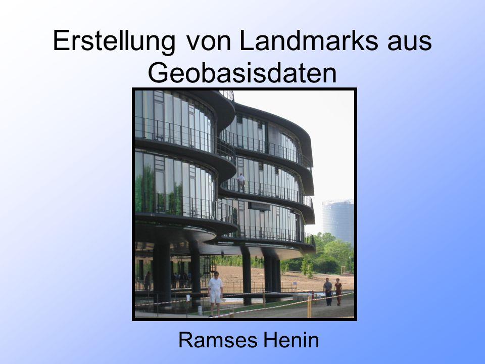 Erstellung von Landmarks aus Geobasisdaten