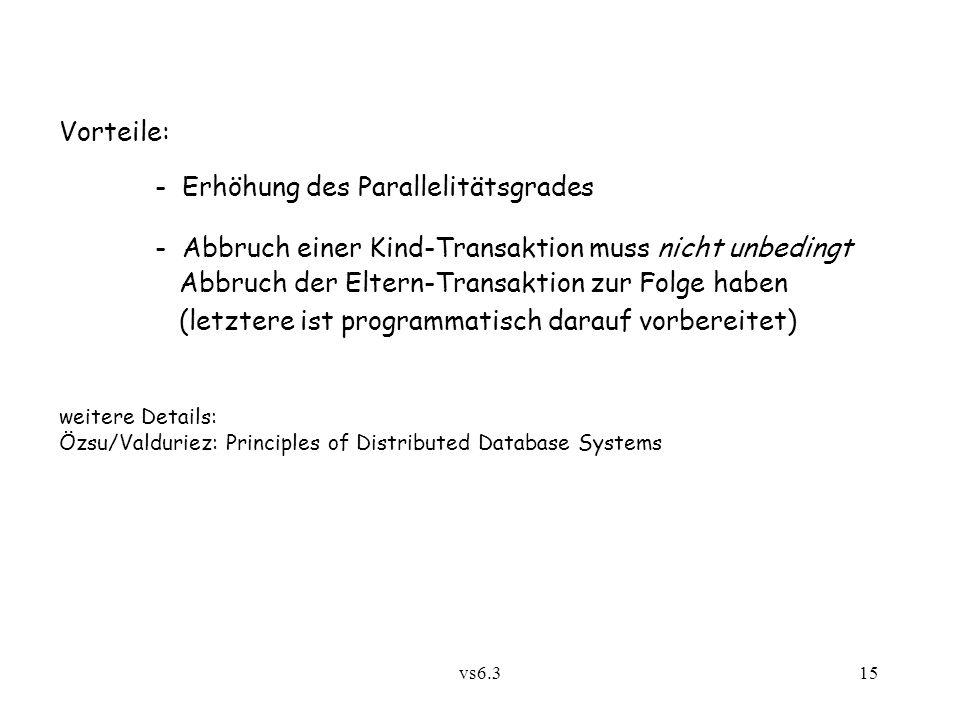- Erhöhung des Parallelitätsgrades