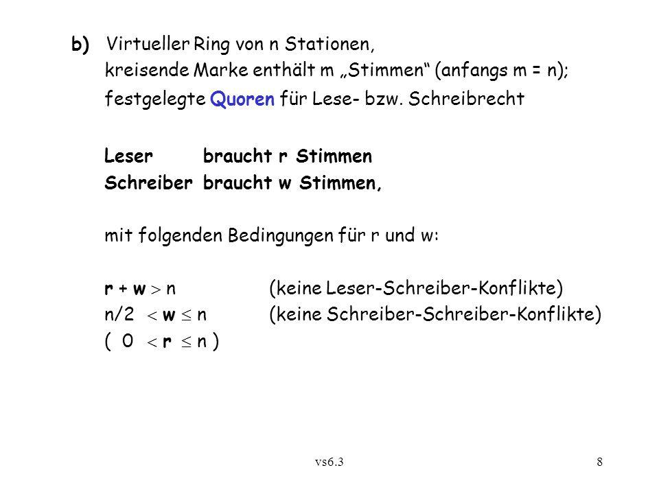 b) Virtueller Ring von n Stationen,