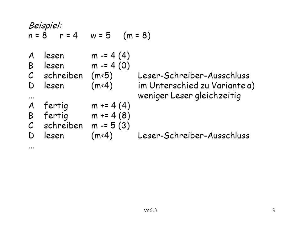 C schreiben (m<5) Leser-Schreiber-Ausschluss