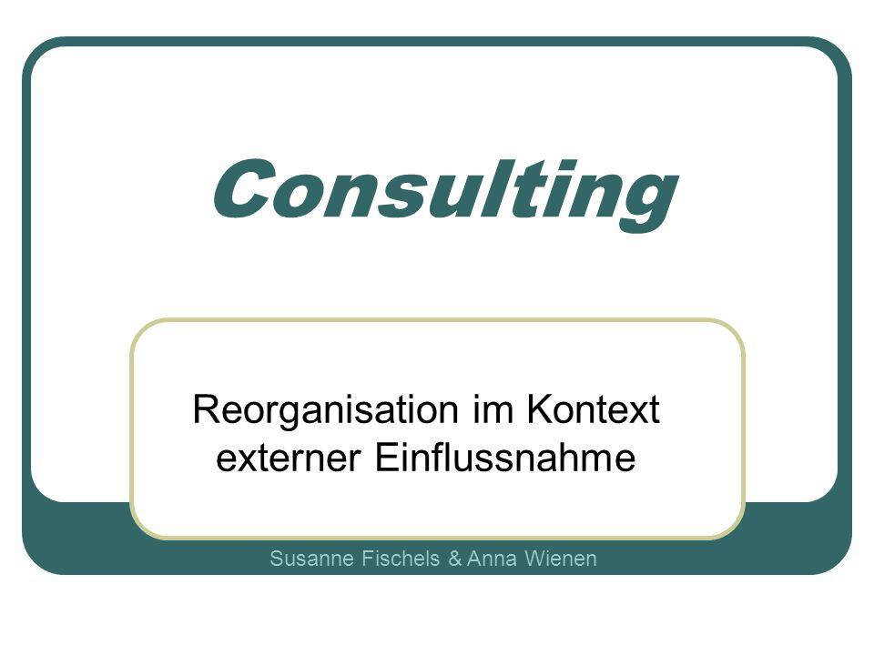 Reorganisation im Kontext externer Einflussnahme