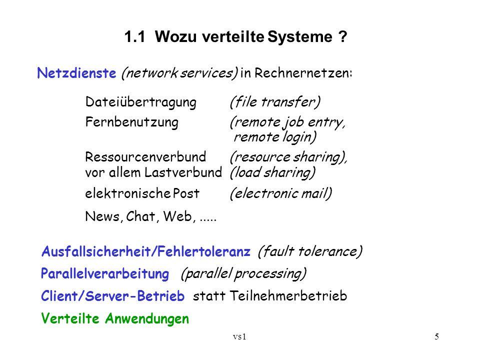 1.1 Wozu verteilte Systeme
