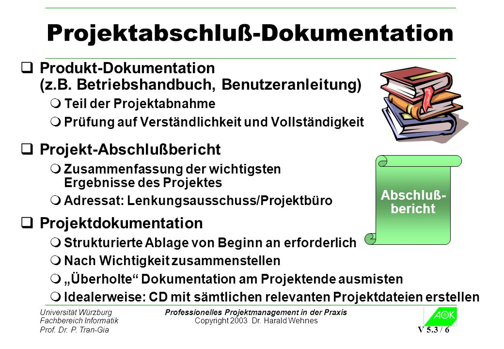 Projektabschluß-Dokumentation