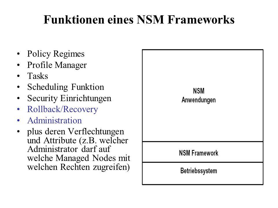 Funktionen eines NSM Frameworks