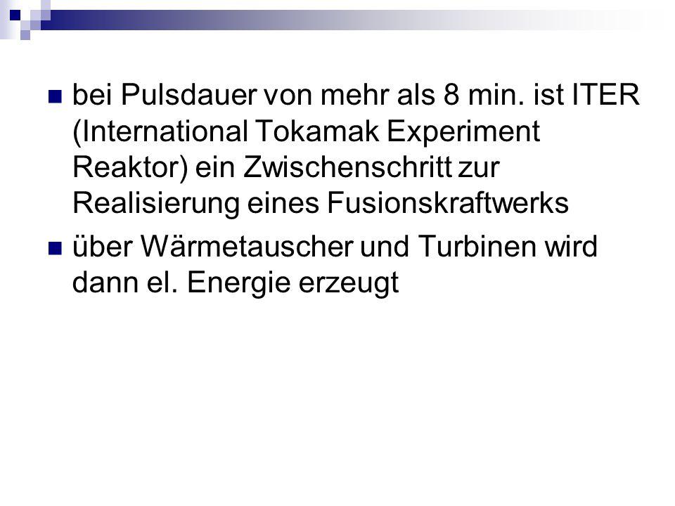 über Wärmetauscher und Turbinen wird dann el. Energie erzeugt