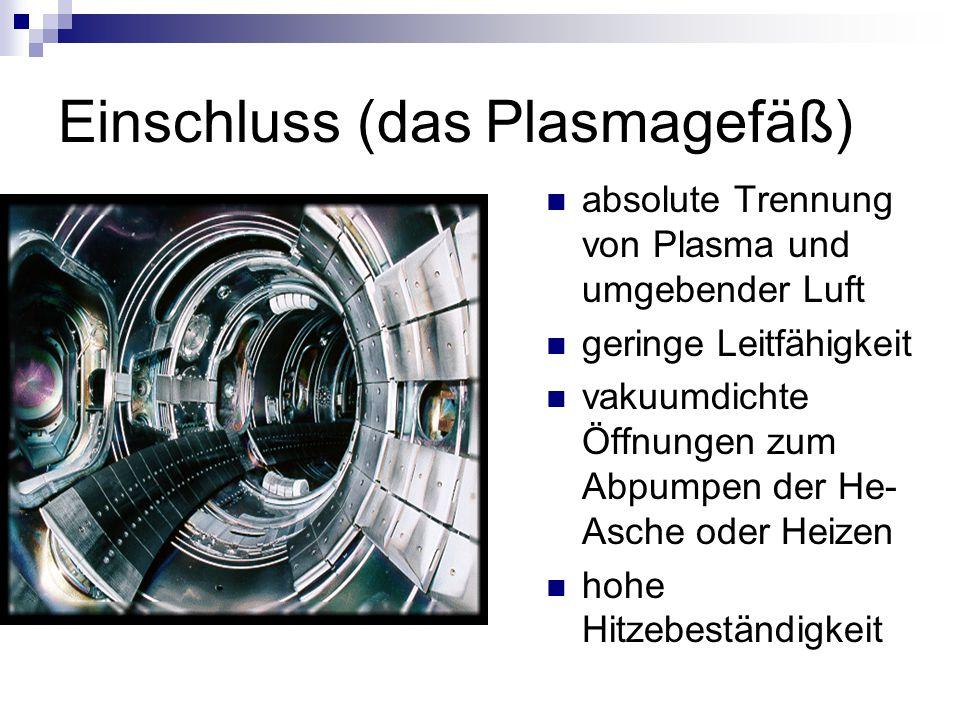 Einschluss (das Plasmagefäß)