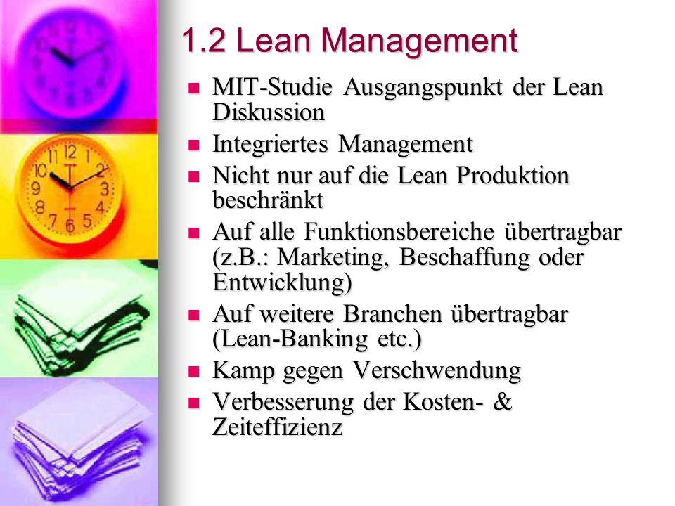 1.2 Lean Management MIT-Studie Ausgangspunkt der Lean Diskussion