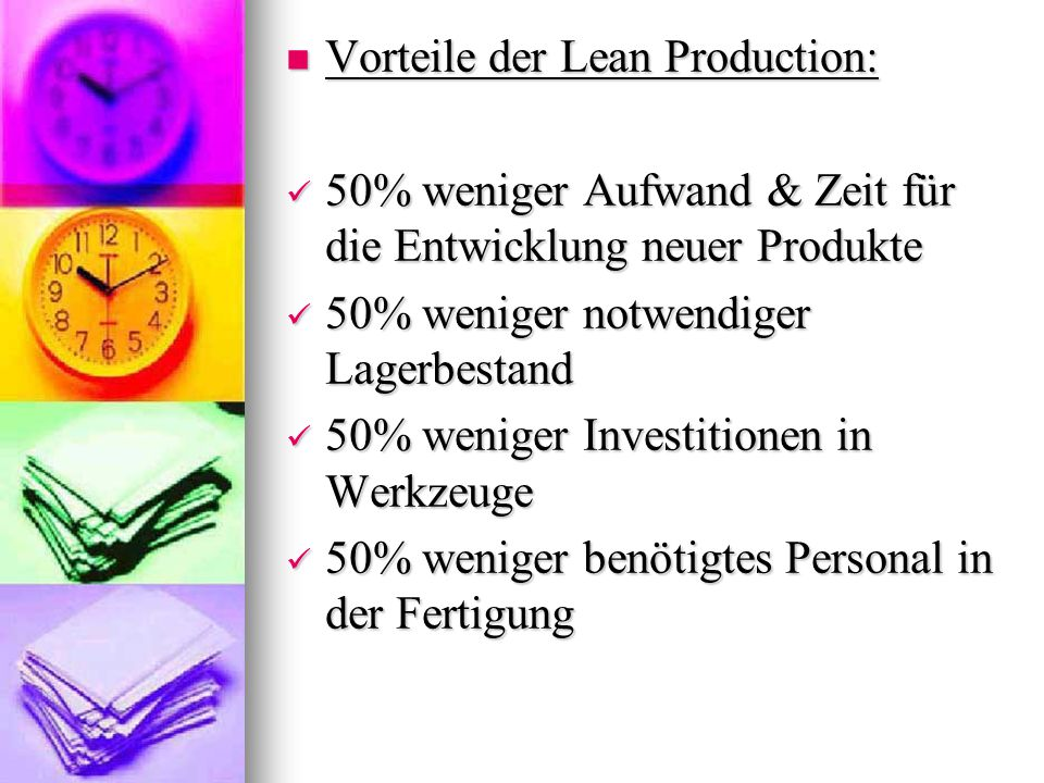 Vorteile der Lean Production: