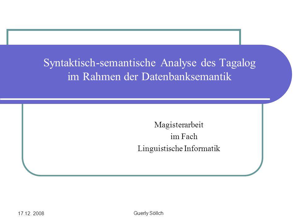 Magisterarbeit im Fach Linguistische Informatik