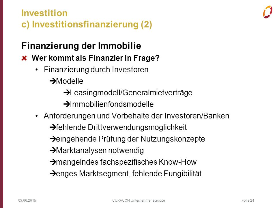Investition c) Investitionsfinanzierung (2)