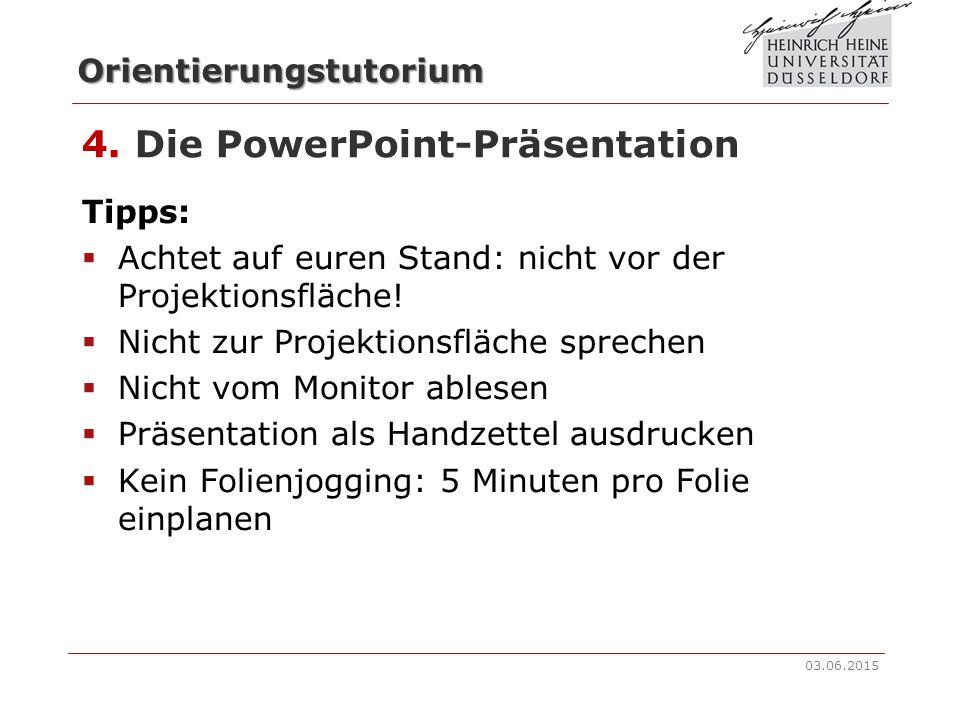4. Die PowerPoint-Präsentation