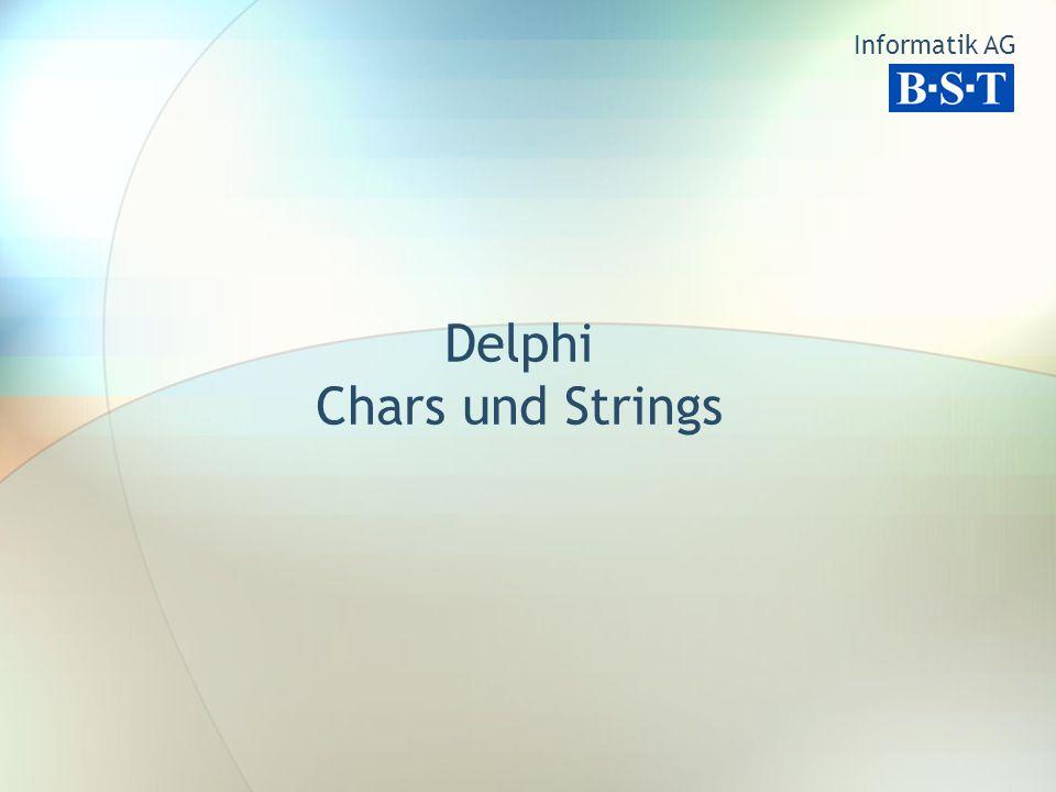Delphi Chars und Strings