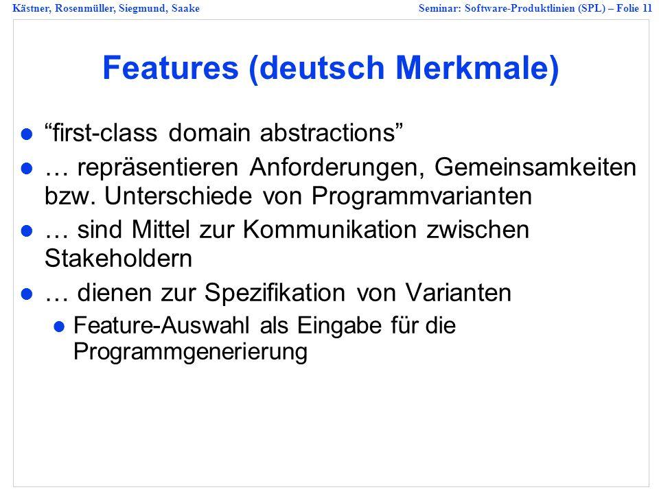 Features (deutsch Merkmale)