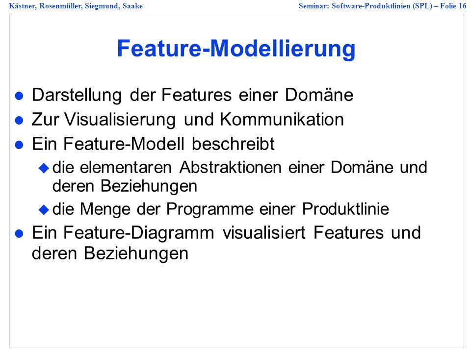 Feature-Modellierung