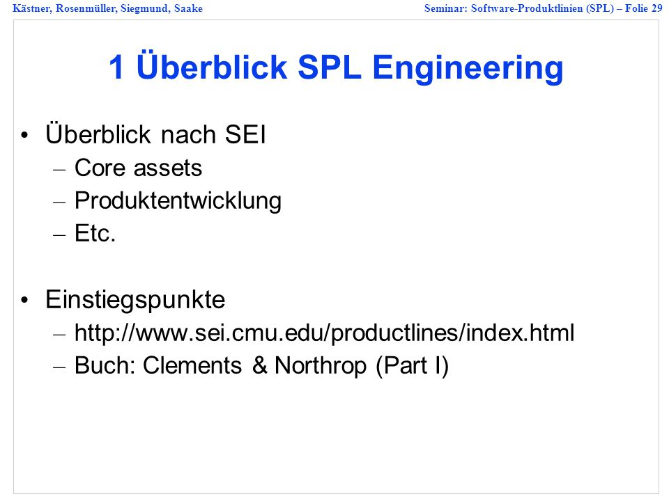 1 Überblick SPL Engineering