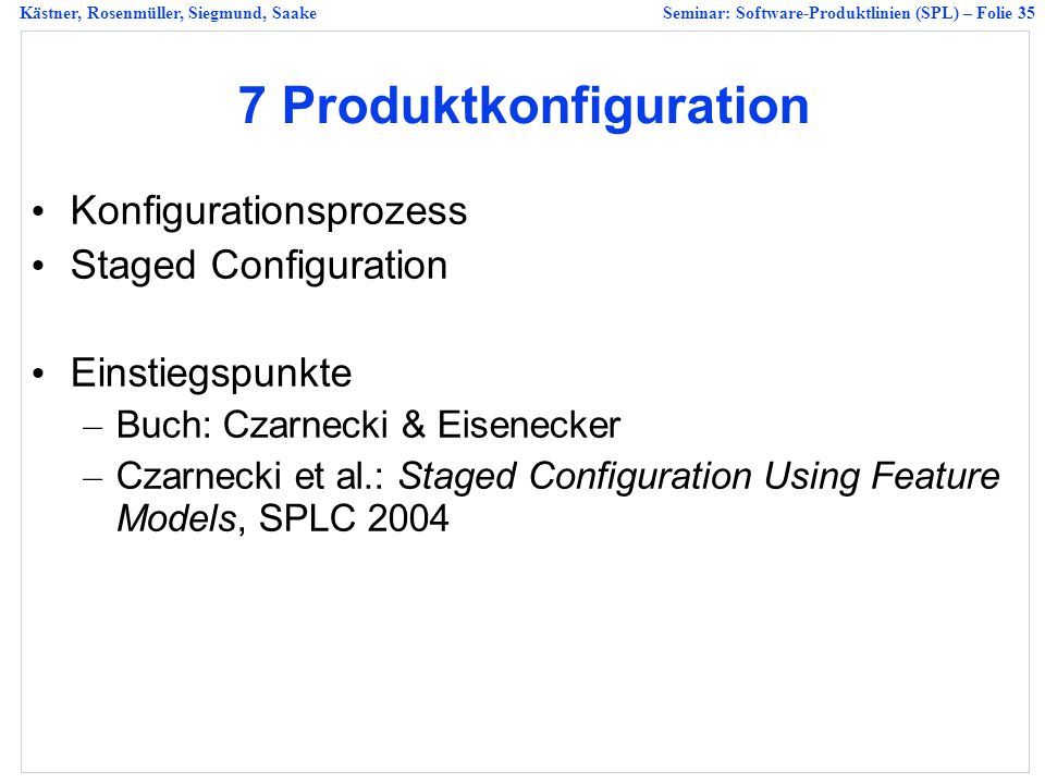 7 Produktkonfiguration