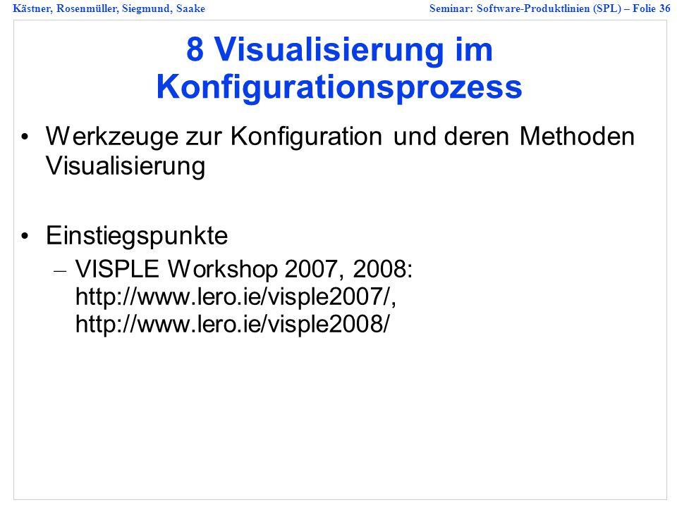 8 Visualisierung im Konfigurationsprozess