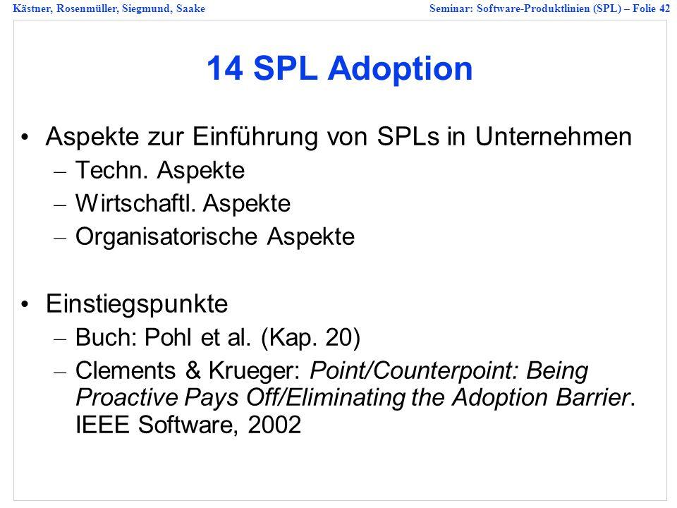 14 SPL Adoption Aspekte zur Einführung von SPLs in Unternehmen