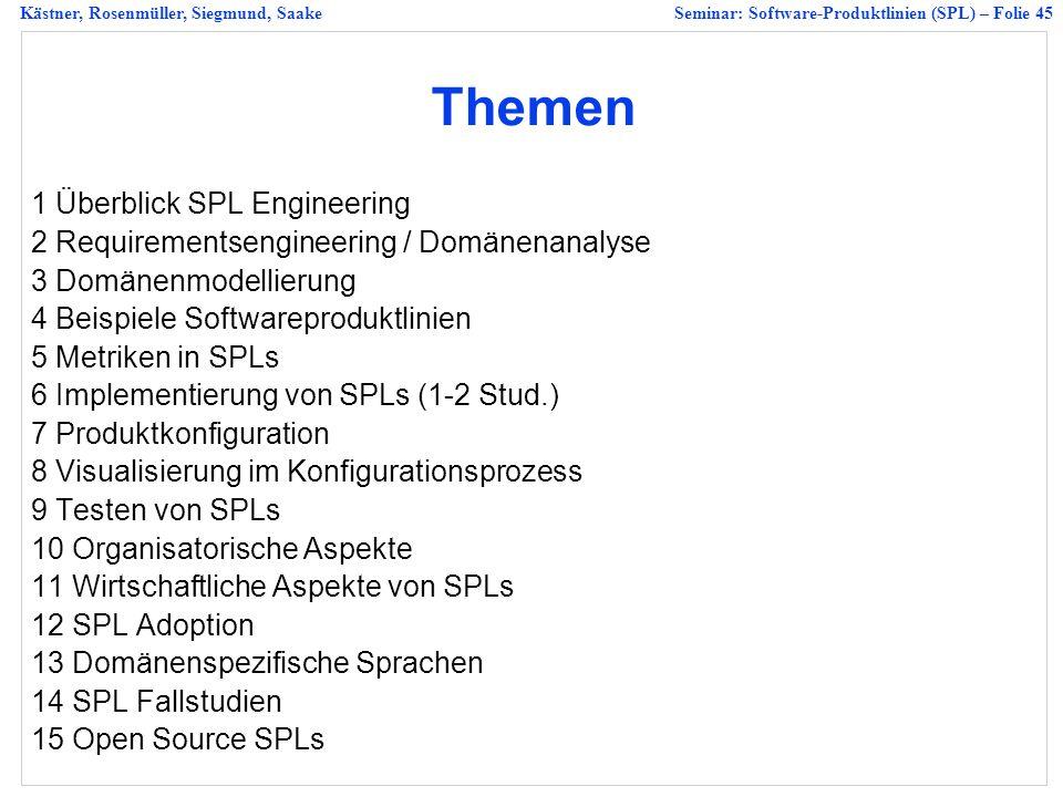 Themen 1 Überblick SPL Engineering