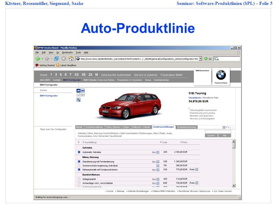 Auto-Produktlinie