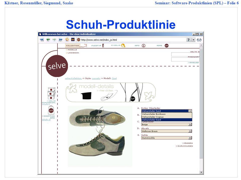 Schuh-Produktlinie