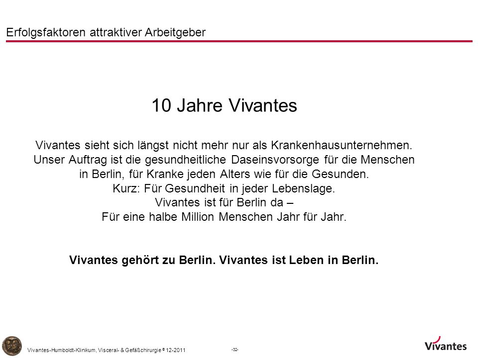 Vivantes gehört zu Berlin. Vivantes ist Leben in Berlin.