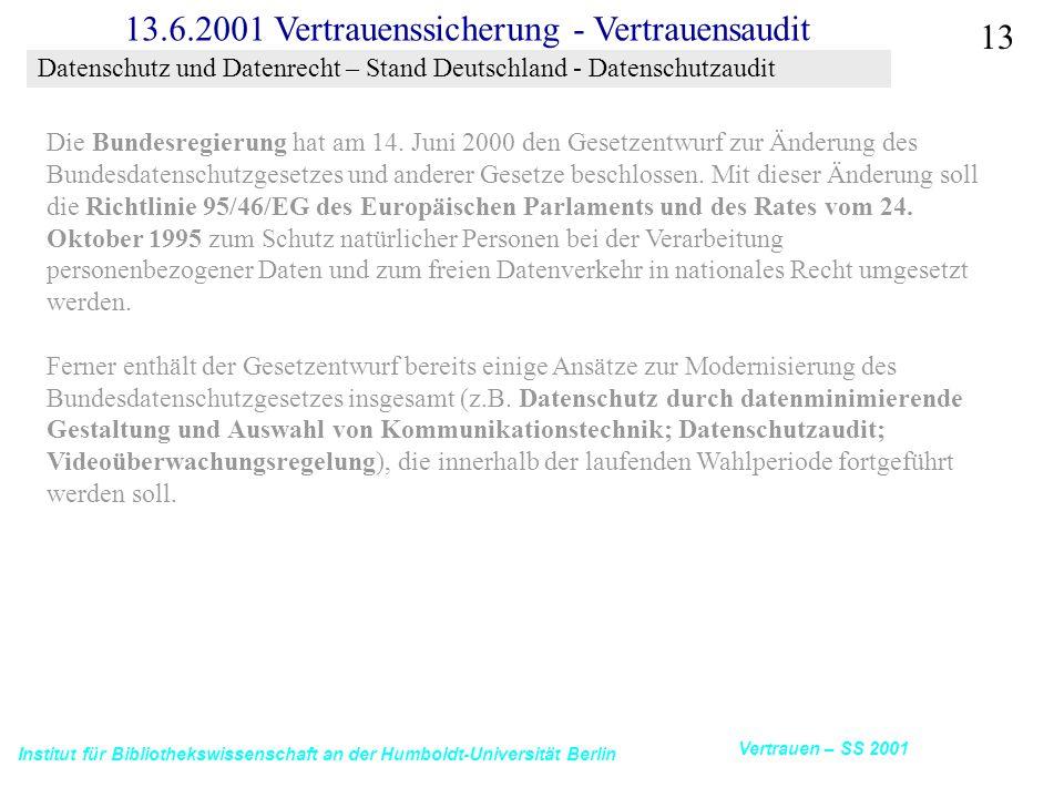 Datenschutz und Datenrecht – Stand Deutschland - Datenschutzaudit