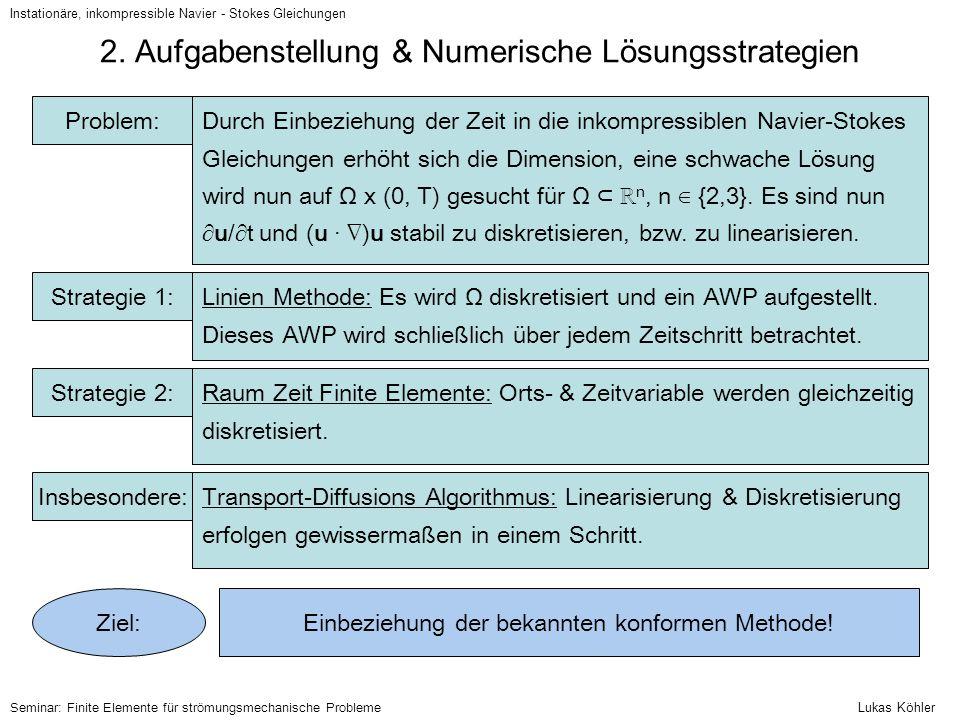 2. Aufgabenstellung & Numerische Lösungsstrategien