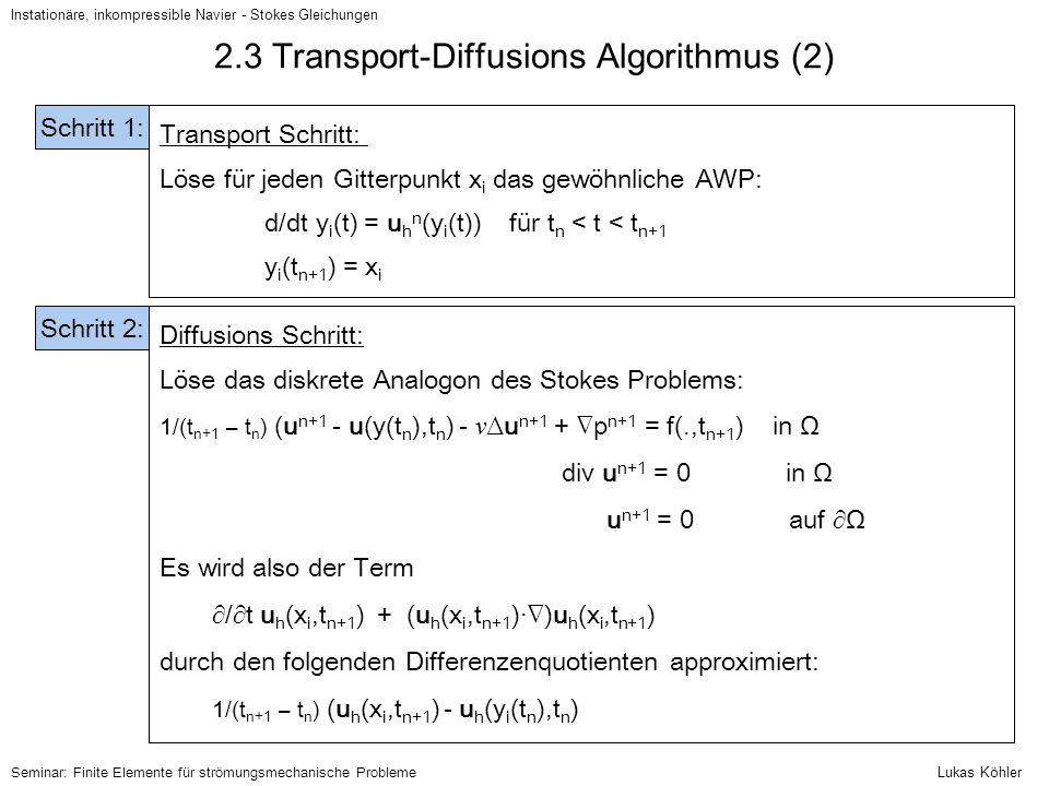 2.3 Transport-Diffusions Algorithmus (2)