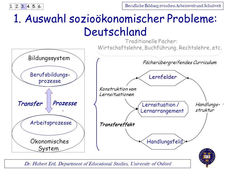 1. Auswahl sozioökonomischer Probleme: Deutschland