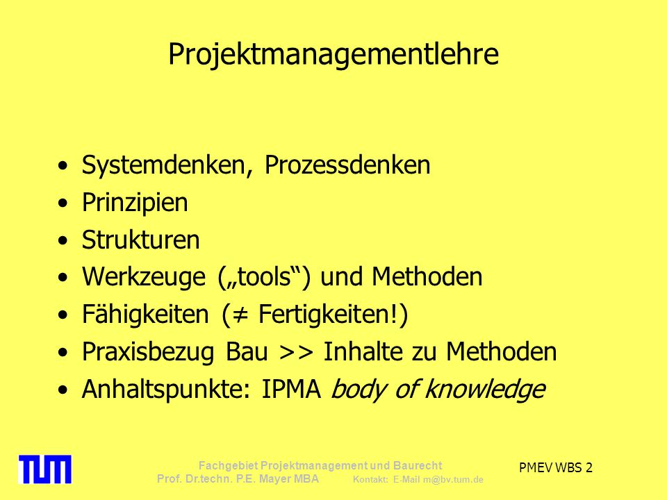 Projektmanagementlehre