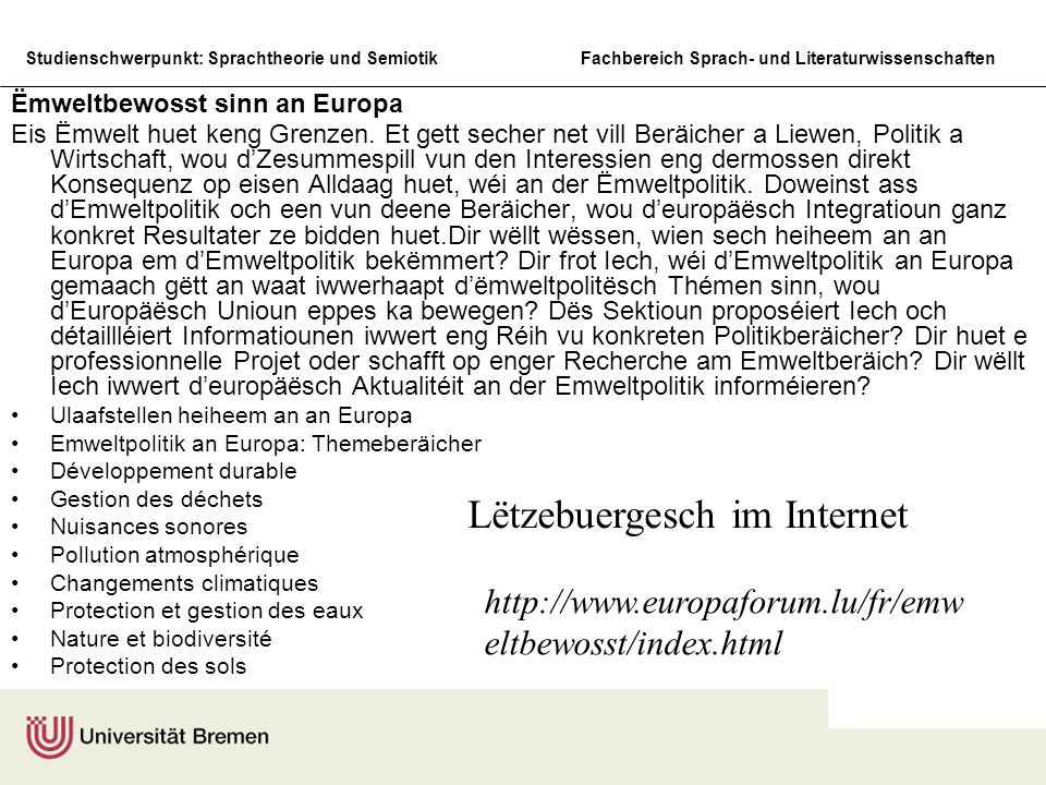 Lëtzebuergesch im Internet