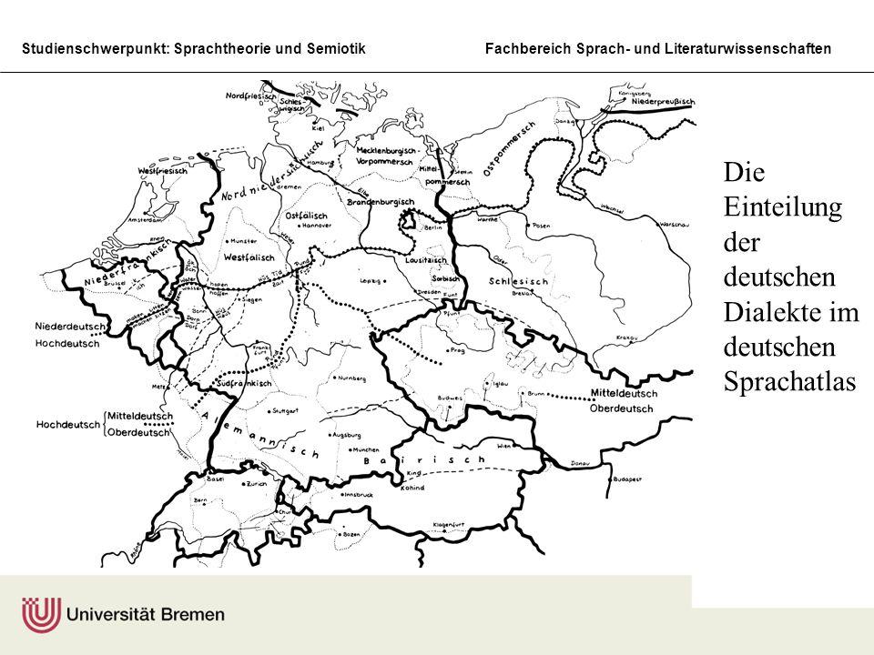Die Einteilung der deutschen Dialekte im deutschen Sprachatlas
