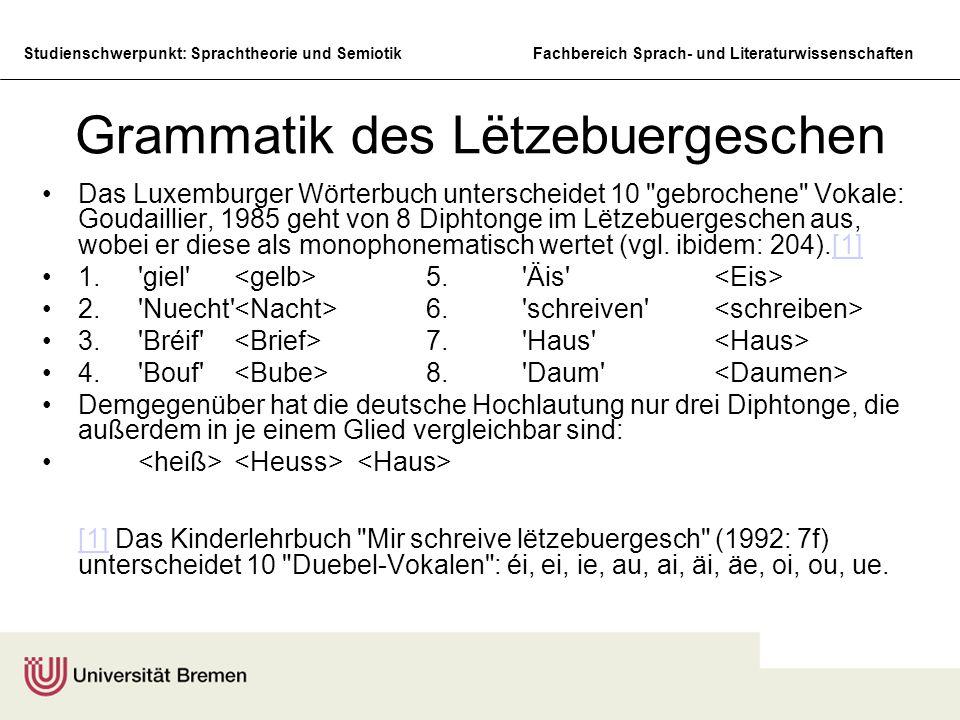 Grammatik des Lëtzebuergeschen