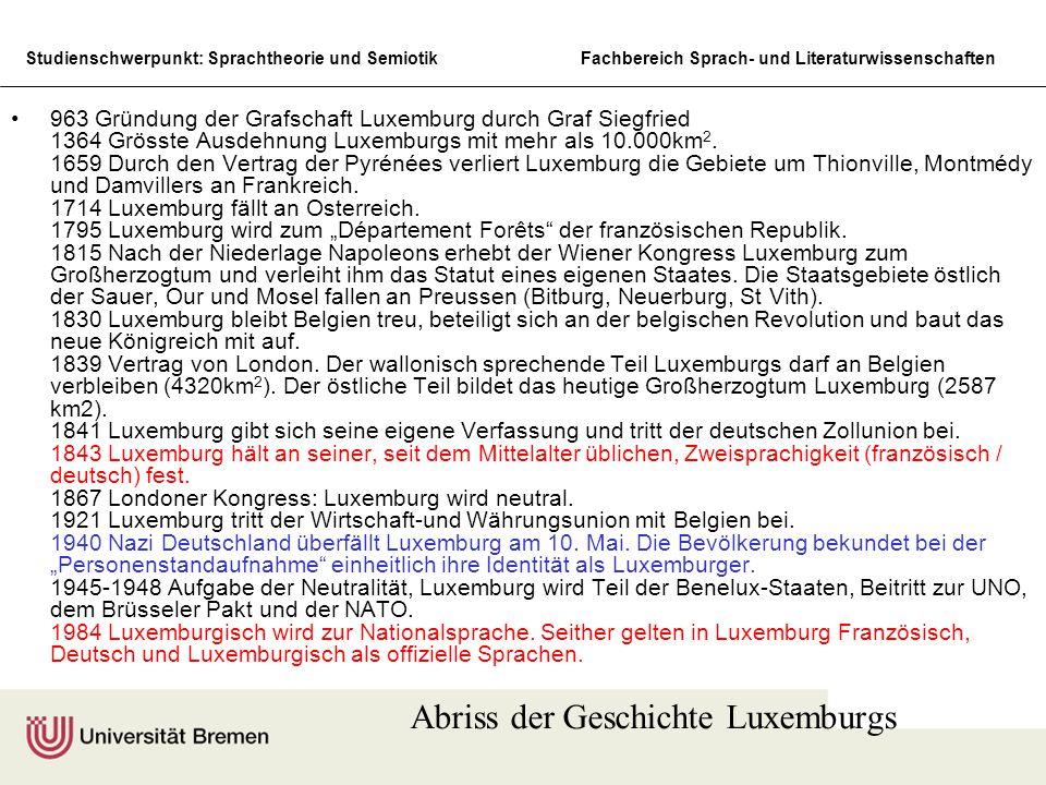 Abriss der Geschichte Luxemburgs