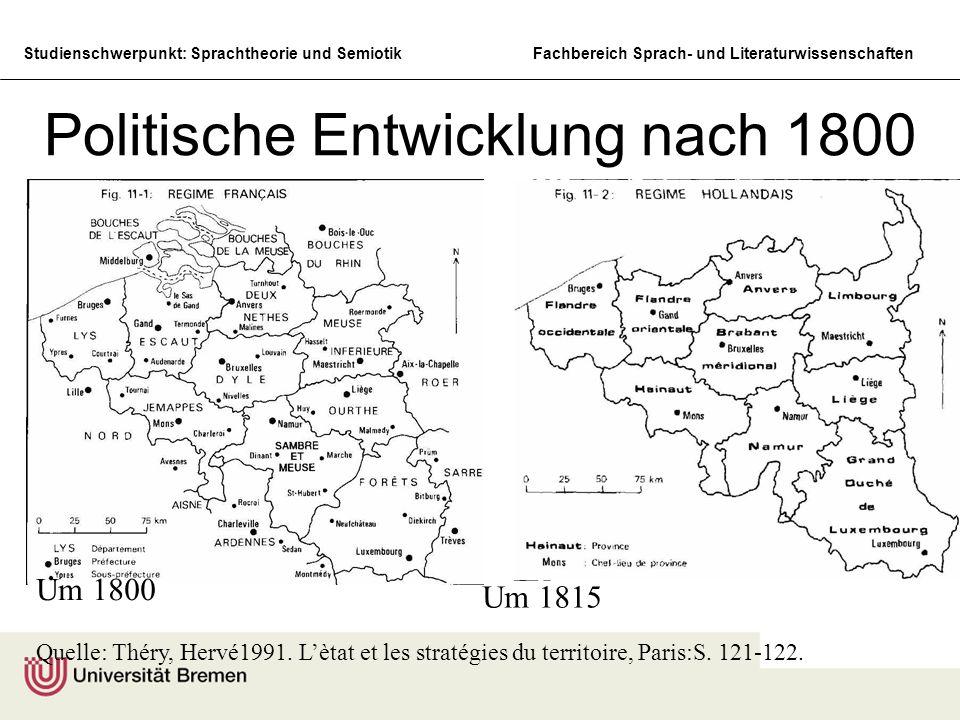 Politische Entwicklung nach 1800