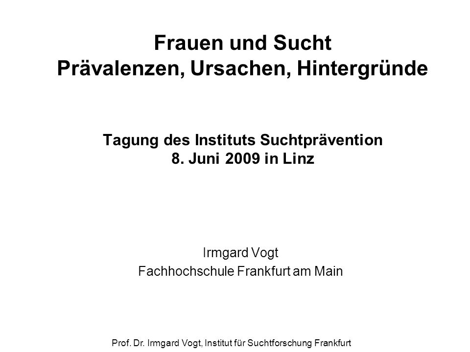 Irmgard Vogt Fachhochschule Frankfurt am Main