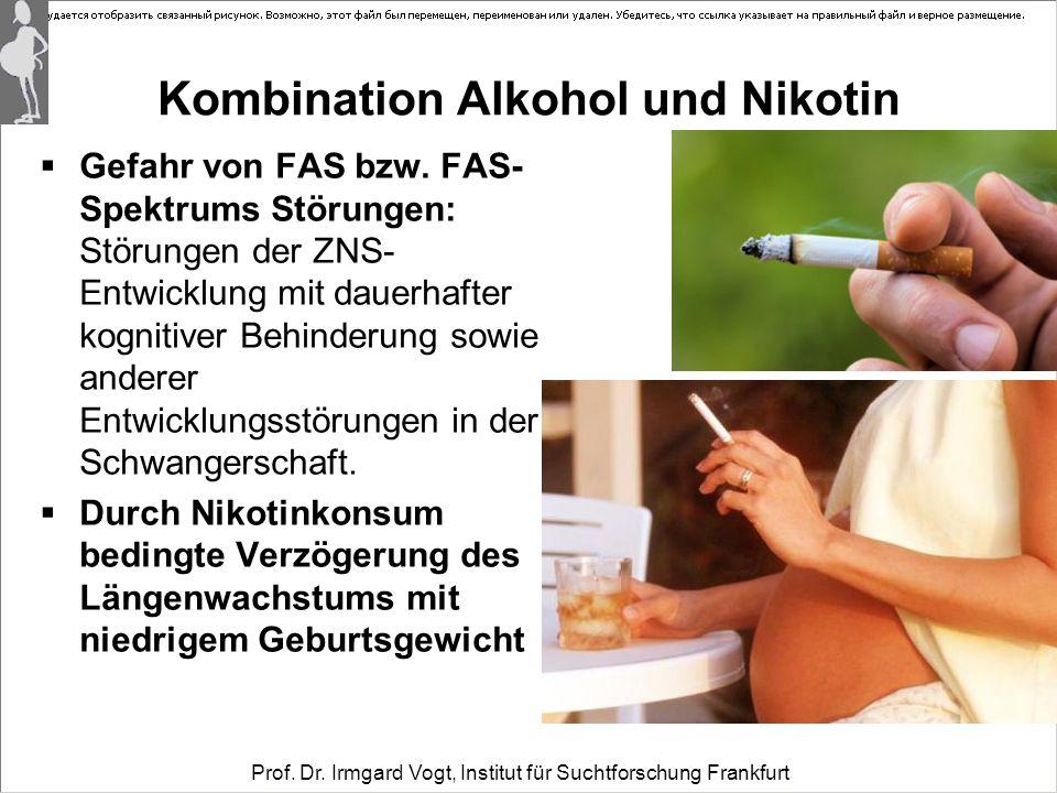 Kombination Alkohol und Nikotin