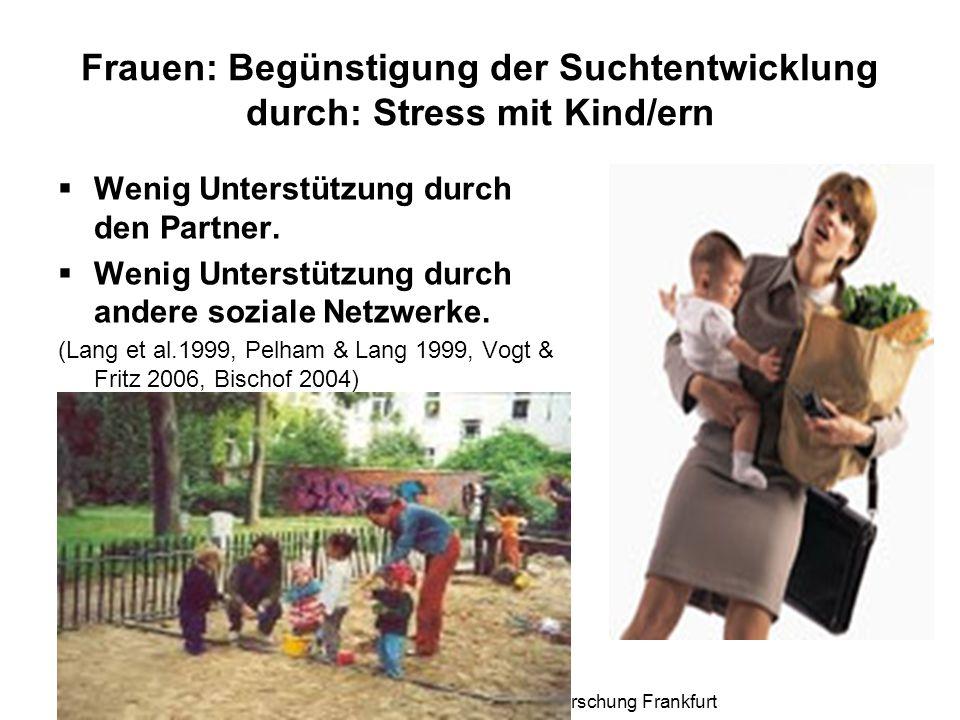 Frauen: Begünstigung der Suchtentwicklung durch: Stress mit Kind/ern